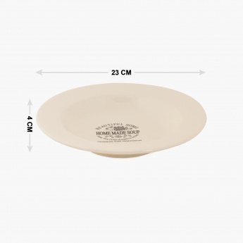 HOME CENTRE Beautiful Home Soup Plate - 9 Inch