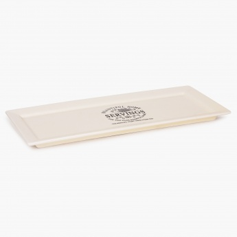 HOME CENTRE Beautiful Home Ceramic Rectangular Platter - 15 Inch