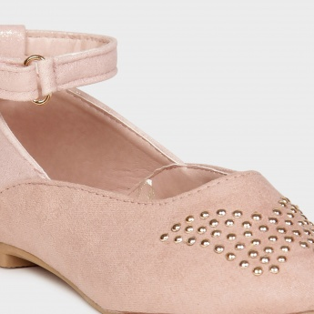 JUNIORS Studded Buckle-Up Shoes