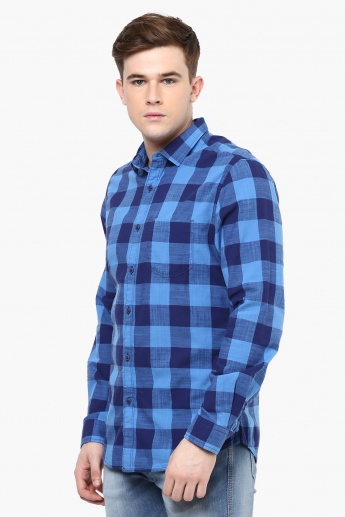 FAME FOREVER Buffalo Check Casual Shirt