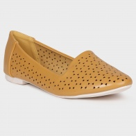 GINGER Cut-Out Patterned Slip-Ons