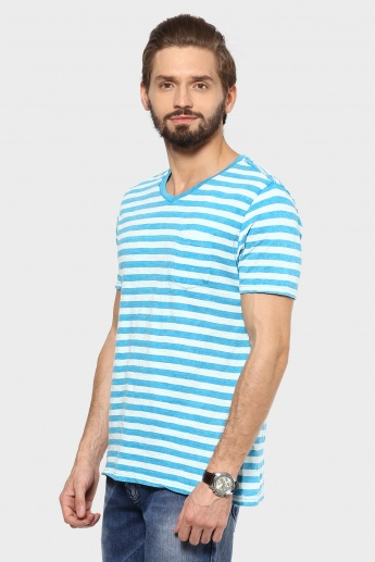FORCA V-Neck Striped T-Shirt