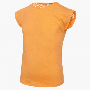 BOSSINI Solid Laced Shoulder Top