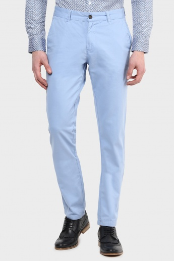 CODE Solid Slim Fit Pants
