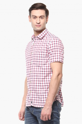 CODE Checks Half Sleeves Shirt