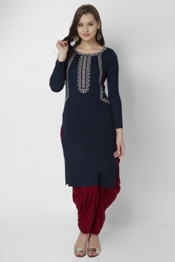 W Knitted Full Sleeves Kurti