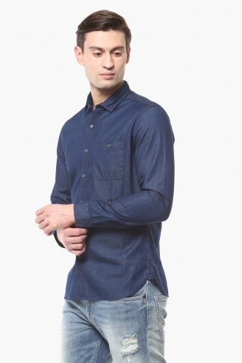 BOSSINI Slim Fit Full Sleeves Shirt