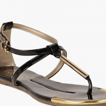 CATWALK Patent Finish Strappy Sandals