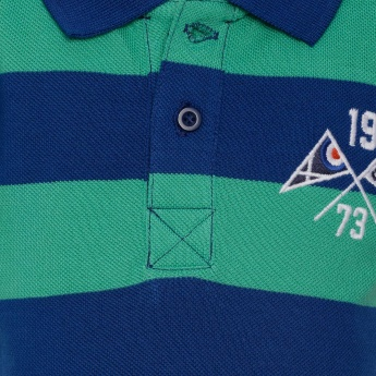JUNIORS Striped Polo T-Shirt