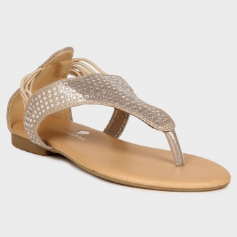 JUNIORS Elasticated Strap Studded Sandals