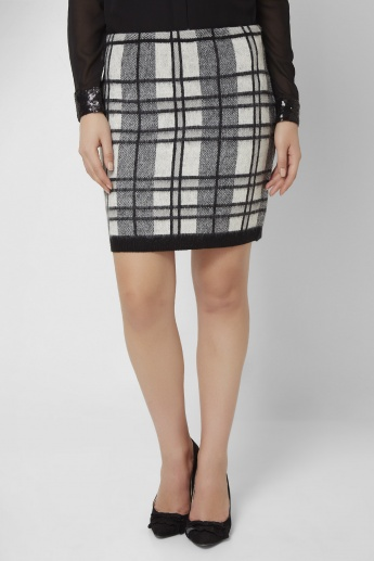 VERO MODA Checked Pencil Skirt