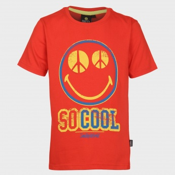 SMILEY WORLD Cool Graphic Print T-Shirt