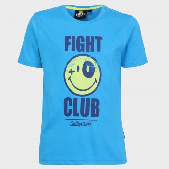 SMILEY WORLD Fight Club Printed T-Shirt