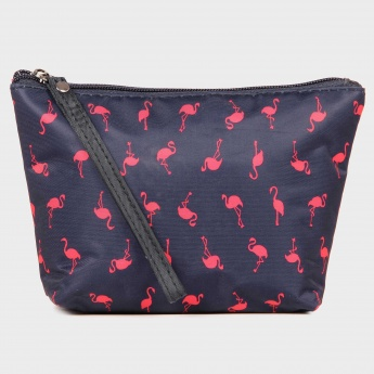 GINGER Flamingo Print Pouch
