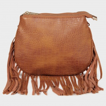 GINGER Fringed Trims Sling Bag