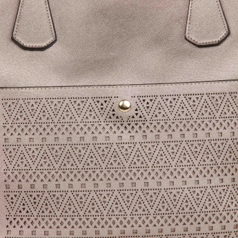 PAPRIKA Metallic Muse Perforated Handbag
