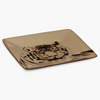 HOME CENTRE Imperial Tiger Square Plate-6 Inch