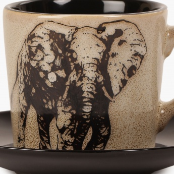 HOME CENTRE Imperial Elephant Cup And Saucer-210 ml