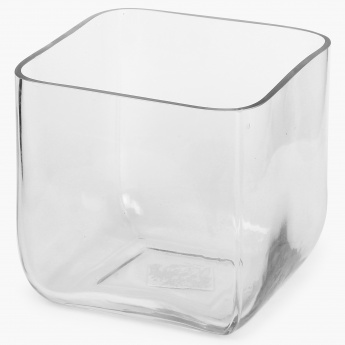HOME CENTRE Cube Clear Vase