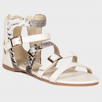 GINGER Snake Pristine Strappy Gladiators