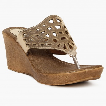 SHUZ Chic Cut-Out Wedges