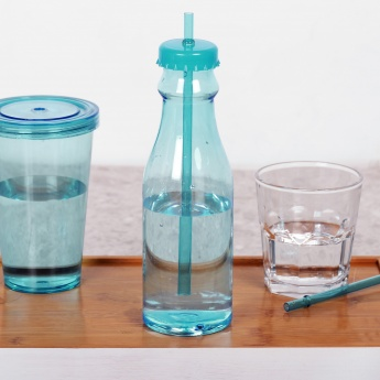 HOME CENTRE Bebida Water Bottle With Straw - 700 ml