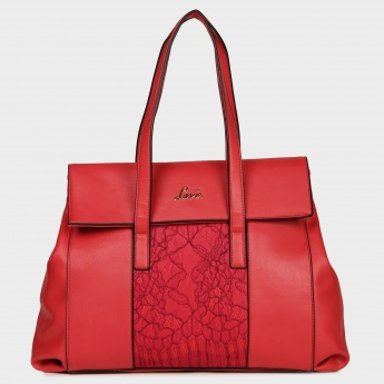 LAVIE Lace Panel Handbag