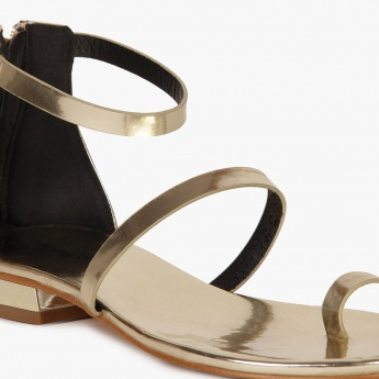 PAPRIKA Metallic Strappy Sandals