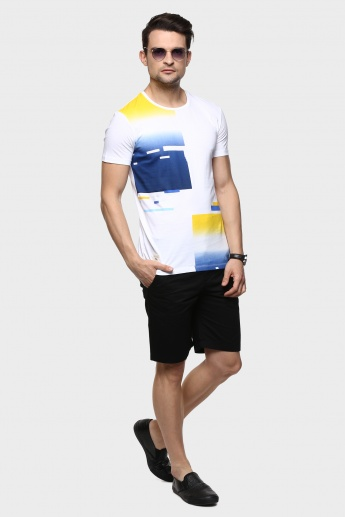 UNITED COLORS OF BENETTON Abstract Gradient T-Shirt