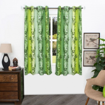 HOME CENTRE Matrix Panama Digital Printed Cotton Window Curtain - 135 X 160 CM
