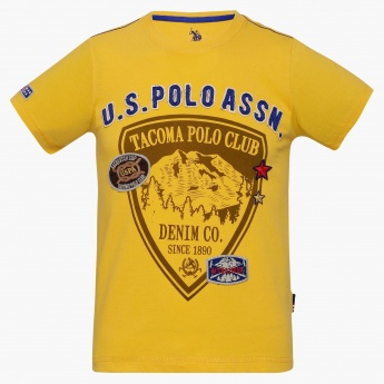 US POLO KIDS Crew Neck Graphic Print T-Shirt
