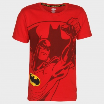KIDSVILLE Batman Print Crew Neck T-Shirt