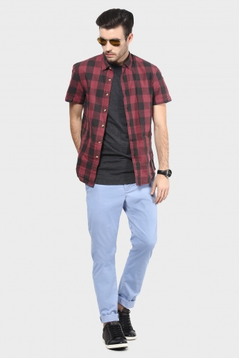 BEING HUMAN Slim Fit Flat Front Pants