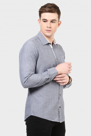 BEING HUMAN Dot Print Full Sleeves Shirt