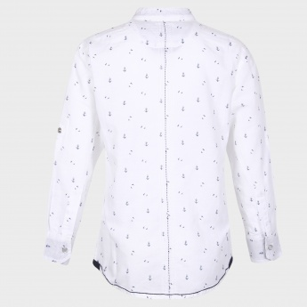 GINI & JONY Printed Band Collar Shirt