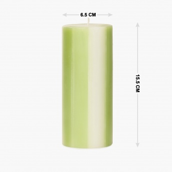 HOME CENTRE Redolance Three Tone Pillar Candle - 15 CM