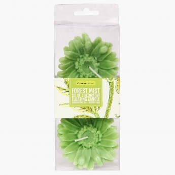 HOME CENTRE Redolance Forest Mist Floating Candle- Set Of 2 - 9 CM