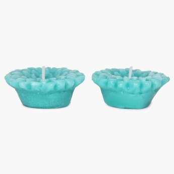 HOME CENTRE Redolance Ocean Blue Floating Candle- Set Of 2 - 9 CM