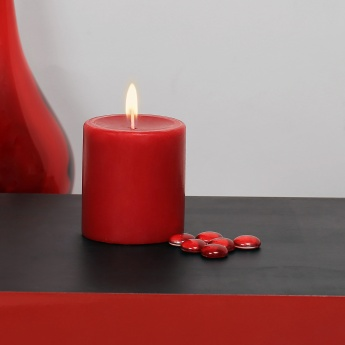 HOME CENTRE Redolance Solid Pillar Candle - 8 CM