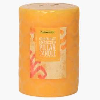 HOME CENTRE Redolance Embossed Pillar Candle - 11 CM