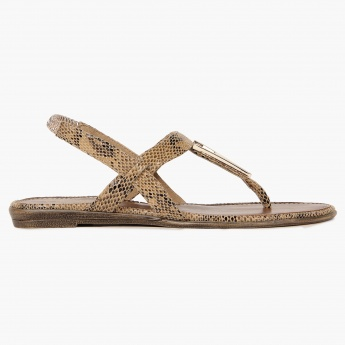 RAW HIDE Animal Instinct Flat Sandals