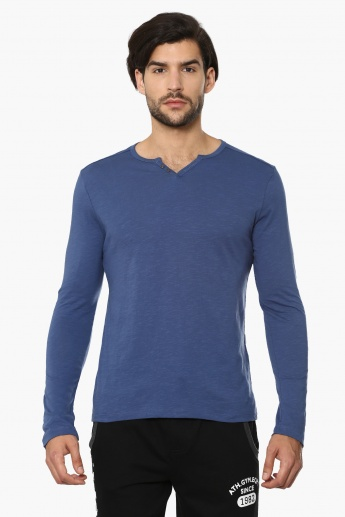 CELIO Solid Full Sleeves T-Shirt