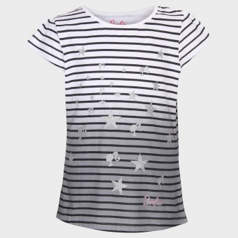 BARBIE Ombre Shimmer Striped T-Shirt