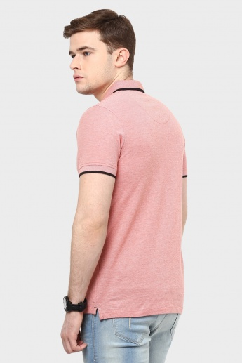 JACK & JONES Half Sleeves Polo Neck T-Shirt