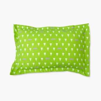 HOME CENTRE Mandarin Printed Pillow Cover - Set of 2 - 70 X 45 CM
