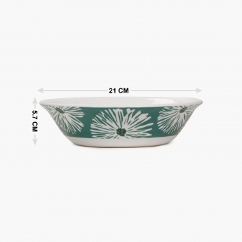 HOME CENTRE Coastal Living Printed Serving Bowl