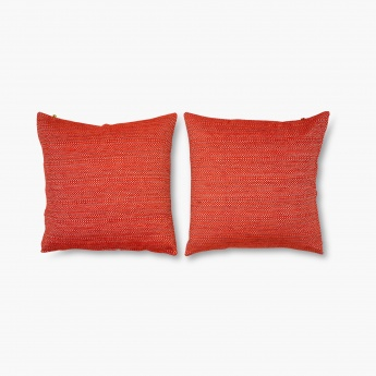 HOME CENTRE Gala Melange Chenille Cushion Cover- Set of 2 - 40 x 40 cm