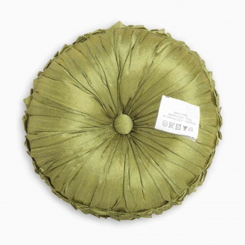 HOME CENTRE Ebony Crumple Round Cushion