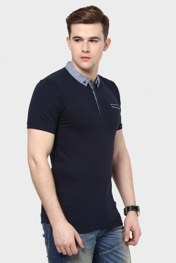CELIO Button Down Collar Polo Neck T-Shirt