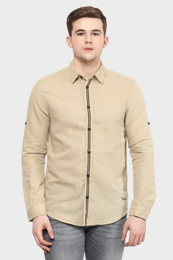 JACK & JONES Full Sleeves Textured Shirt